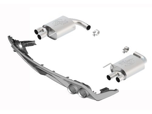 Ford Racing Mustang Quad Tip Muffler Kit - GT350